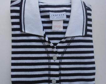 Vintage Jantzen black and white striped top