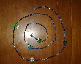 Glass bead wrap braclet necklace