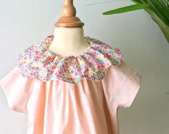 Big summer / Summer sale! Unique dress with collar petals Liberty of London size 2 years