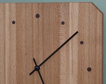 Wall Clock From Quartersawn Elm