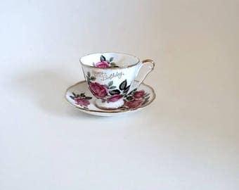 Princess Anne Fine Bone China Cup and Saucer