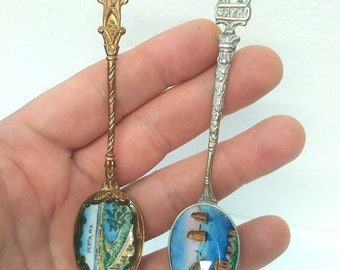 lot of 2 Vintage collectible Spoons handmade
