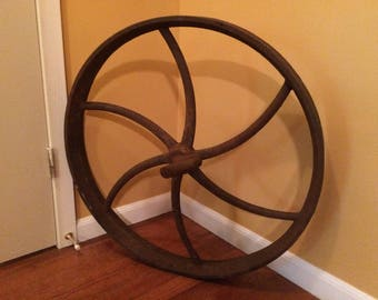 "Antique 28"" wagon wheel"