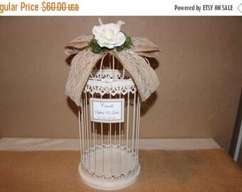 ON SALE Wedding Birdcage Cardholder / Rustic Wedding Birdcage / Wedding Cardholder