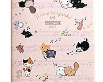 Kutsushita Nyanko Schedule Book 2018 - Agenda  By San-X - Calendrier
