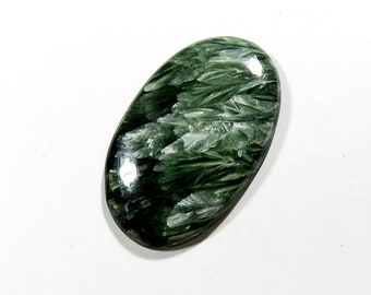 43Cts Russian Serpentine Loose Gemstone Oval Cabochon Excellent!!! Top AAA Quality Natural Russian Serpentine For Jewelry Making 38X27X5mm