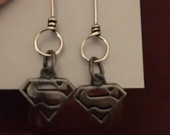 Superman earrings hypoallergenic