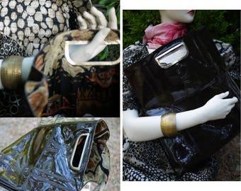 Roberta di Camerino/bag vintage 70s/PVC bag/waterproof bag/designer bag/bag/boho chic/hand bag