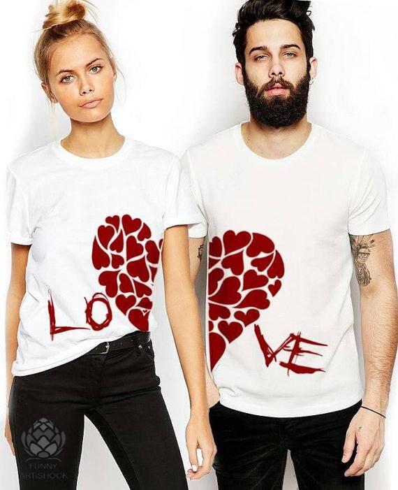 LOVE Couples T-shirt Set LOVE Couples Shirt Set Couples