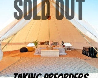 PREORDER DOUBLE WALL Bell Tent for Glamping --16 ft round Festival Tent-Yurt-Bohemian Style-Garden style-hipster-boho chic,weddings