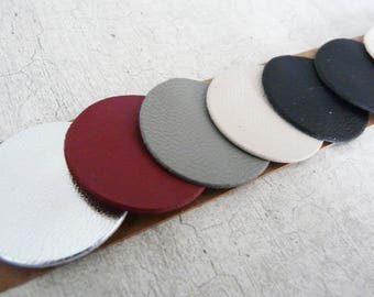 10 round leather cord, 3 cm, complementary shades for creation