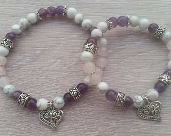 Mala bracelet duo unconditional love, grandma gift, mom gift, gift girl, mother's gift,