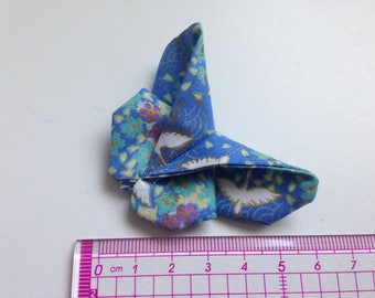 Butterfly origami blue Japanese fabric