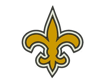 SALE**New Orleans Saints 9 Size Applique Designs College Football Logos Machine Embroidery Pattern