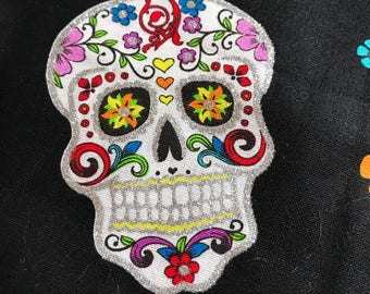 "Day of the Dead  1 yard of 44"" fabric"