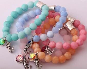 NEW!!, mermaid stone bracelet, mermaid bracelet, mermaid jewelry, mermaid necklace, mermaid earrings, mermaid shirt, beach shirt, lokai