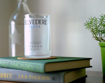 Set of Belvedere Vodka Rocks Glasses / Tumblers- Made From Recycled Bottles