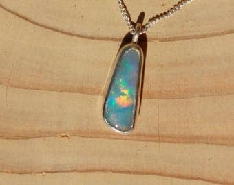 Beautiful rainbow flash opal pendant
