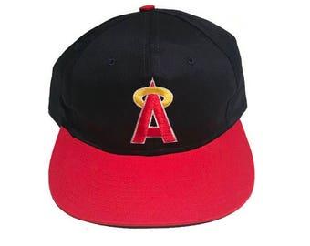 Vintage Los Angeles Angels Plain Logo Snapback Hat Adjustable 90s MLB Baseball