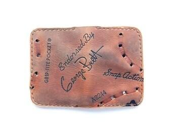 George Brett Folding Card Wallet - Baseball Glove Leather