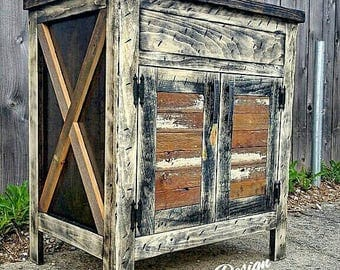 "Manhattan Edition 24"" - 96"" Reclaimed, Rustic, Vintage, Farmhouse, Barn Wood Bathroom Vanity"
