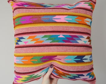 Cushion Cover Peruvian Pillow Cover Wool Cushion Fair Trade Home Decor Ethnic Handwoven Pillow Ethical Handmade Artisan 45x45cm 18x18in