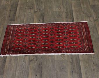 Nice Handmade Small Size Tribal Turkoman Persian Area Rug Oriental Carpet 2X4