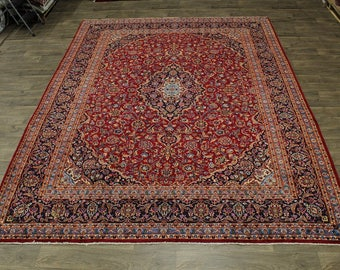Beautiful S Antique Handmade Red Kashan Persian Rug Oriental Area Carpet 10X13