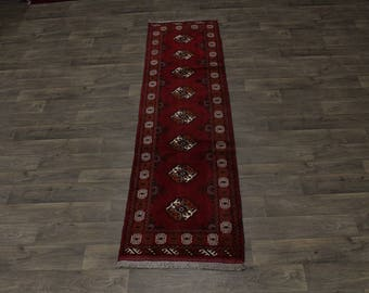 Gorgeous Handmade Runner Tribal Turkoman Persia Area Rug Oriental Carpet 2ʹ5X9ʹ5