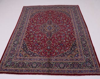 Great Shape Traditional Design Red Kashan Persian Rug Oriental Area Carpet 10X13