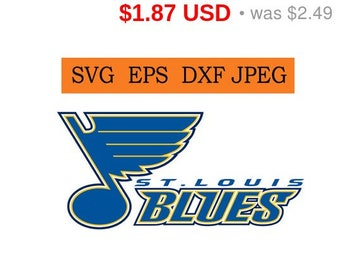 Sale 25%  -  St. Louis Blues logo in SVG / Eps / Dxf / Jpg files INSTANT DOWNLOAD!