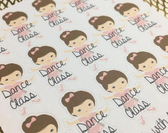 Ballet Dance Class Functional Planner Stickers
