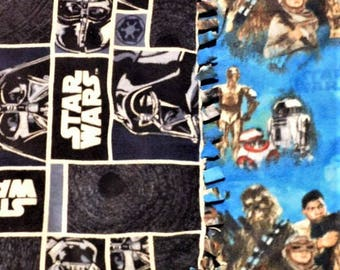 STAR WARS Battlefield! handmade fleece blankets designed by JAX. Choose a side of the Force by picking one of these 2 pattern combinations!