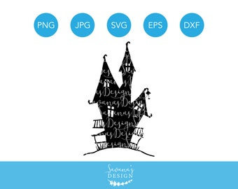 Haunted House SVG, Haunted House Die Cut, Haunted Mansion SVG, Haunted Mansion Clipart, Halloween House SVG, Haunted House, Cut File, Svg