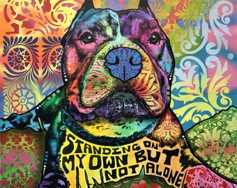 Standing On My Own Dog Print 100% proceeds to Outcast Rescue
