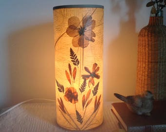 Lamp vintage dried flowers
