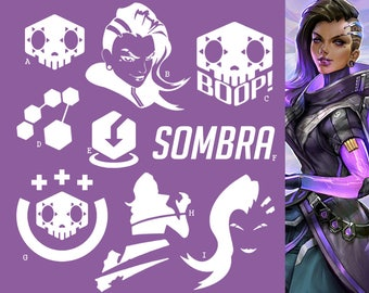 Sombra Overwatch Offense Hero | Vinyl Decal Sticker, Overwatch, Blizzard, Gaming, 17 Colors, Oracle Long Lasting | SneakyStickers