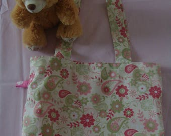 COTTON TOTE BAG PRINTED FLOWERS FOR ROMANTIC GIRL