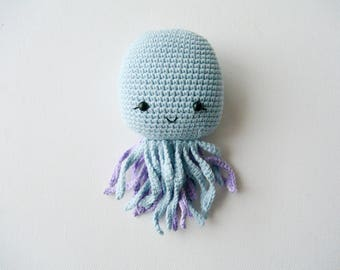 Crochet Octopus, Jellyfish, Newborn toy, Plush toy, Amigurumi