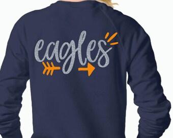 Eagles svg, SVG, DxF, EpS, Cut file, arrow svg, Eagles, shortsandlemons, SVG Sayings, football svg, football sister svg, football mom svg