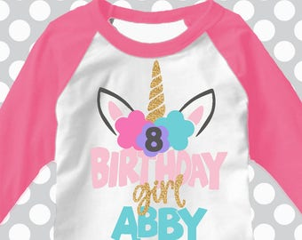 Custom Unicorn svg, Birthday svg, unicorn svg, made with name and age, 48 hrs for design, custom svg, birthday girl svg, shorts and lemons