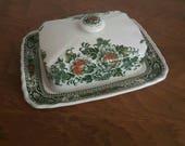 Ridgway Ironstone Canterbury Butter Dish Staffordshire Pottery China Vintage 1960s 1970s Kitchenalia