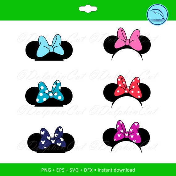 Minnie Mouse Ears Disney Silhouette For Cutting