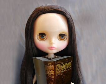 Blythe book, 1to6 scale, bjd books, miniature book, 1to6 doll accessory, dollfie accessories, barbie dollhouse, big dollhouse, shakespeare