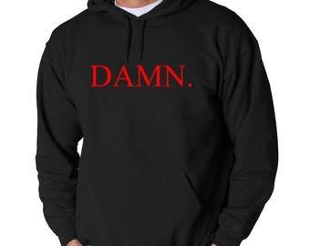 Kendrick Lamar DAMN Logo Hoodie Compton Hip Hop Classic New Sweatshirt Adult Pullover Hooded California Rapper K. Dot Kung Fu Kenny Dr Dre