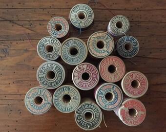 Vintage Silk Thread spools