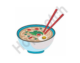 Noodle Soup - Machine Embroidery Design, Pho