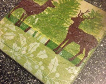 Tile Coaster stags/rustic/countrylife/shabbychic/farmhousechic