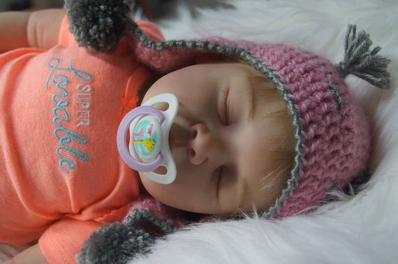 Baby Asleep Reborn Doll Open Mouth Babies Girl Doll Silicone