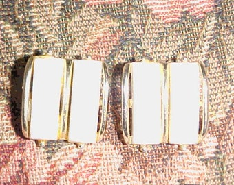 Vintage Clip On Earrings=Gold tone-Great condition-1950s-Free shipping in USA